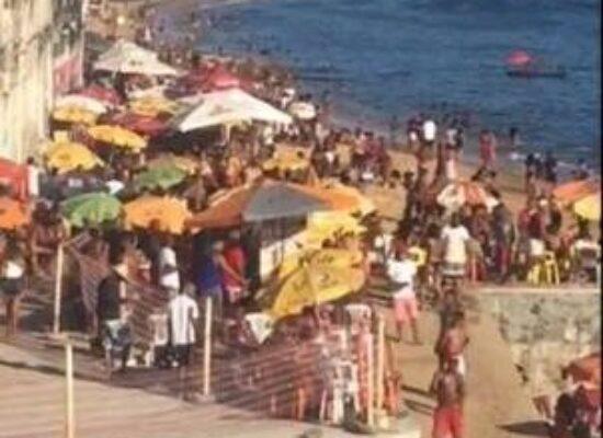 Praias voltarão a ser fechadas em Salvador após banhistas descumprirem protocolos