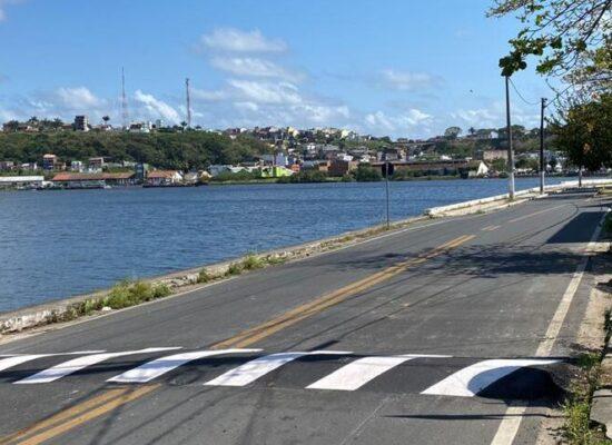 Prefeitura reforça sinalização de trânsito com pintura termoplástica nas principais vias de Ilhéus