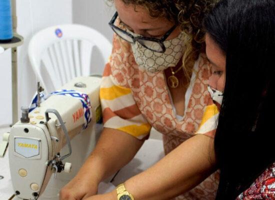 Projeto solidário estimula protagonismo feminino na produção, venda e doação de máscaras contra a Covid-19