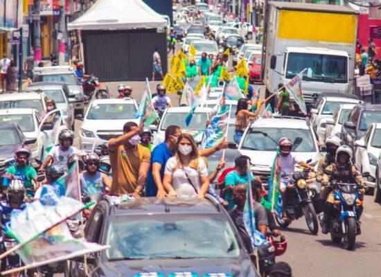 Augusto Castro faz gigantesca carreata pelo centro e bairros de Itabuna