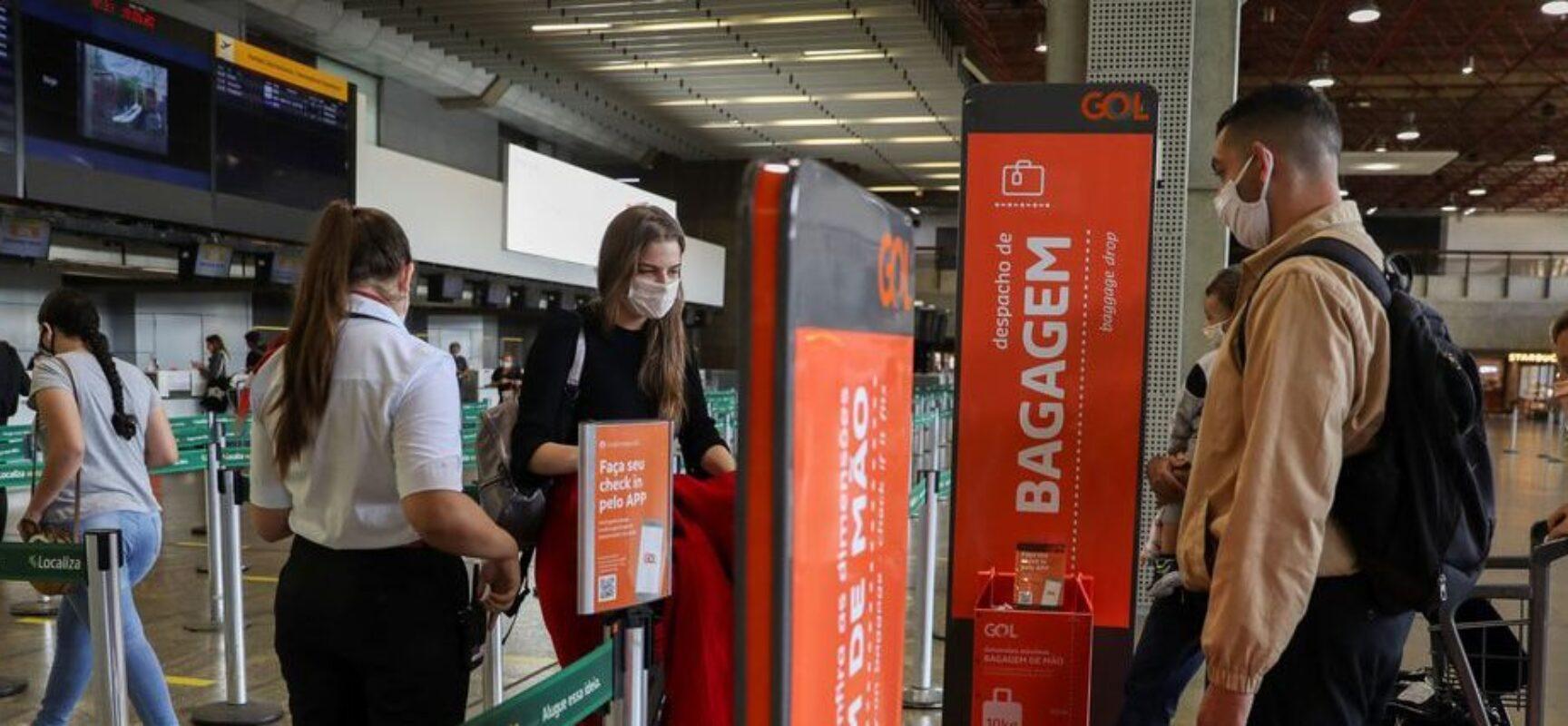 MPF quer exigência de teste de Covid-19 para passageiros de voos nacionais