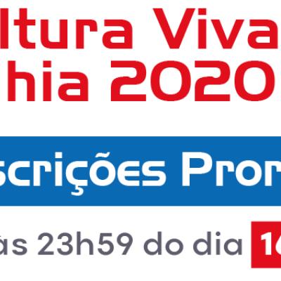 Prorrogadas as inscrições para o Prêmio Cultura Viva Bahia 2020