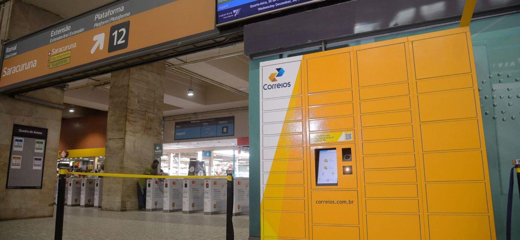 Correios lançam no Rio modalidade de entrega com armários inteligentes