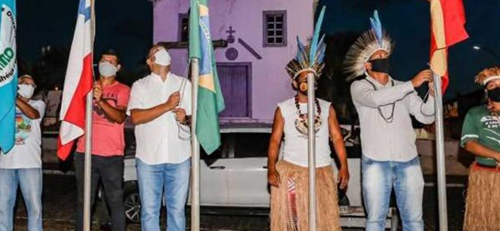 Prefeito Mário Alexandre participa de abertura simbólica da Puxada do Mastro em Olivença