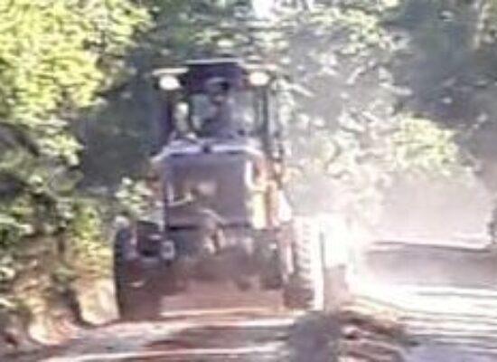 Prefeitura promove melhorias na estrada de acesso à Lagoa Encantada