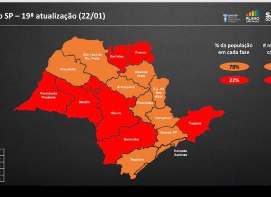São Paulo passa para fase vermelha a partir de hoje