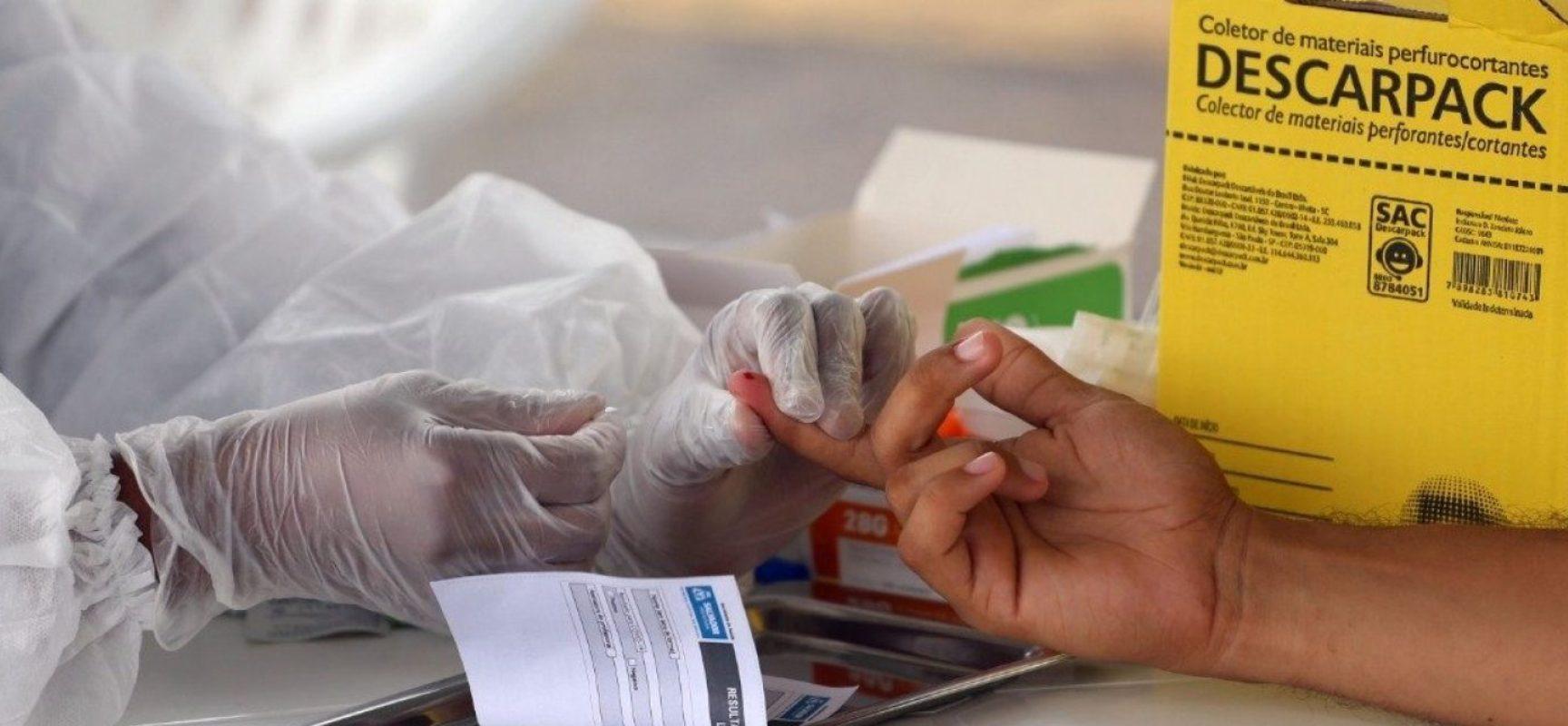 Bahia registra 90 mortes por covid-19 e 3.133 novos casos da doença em 24h