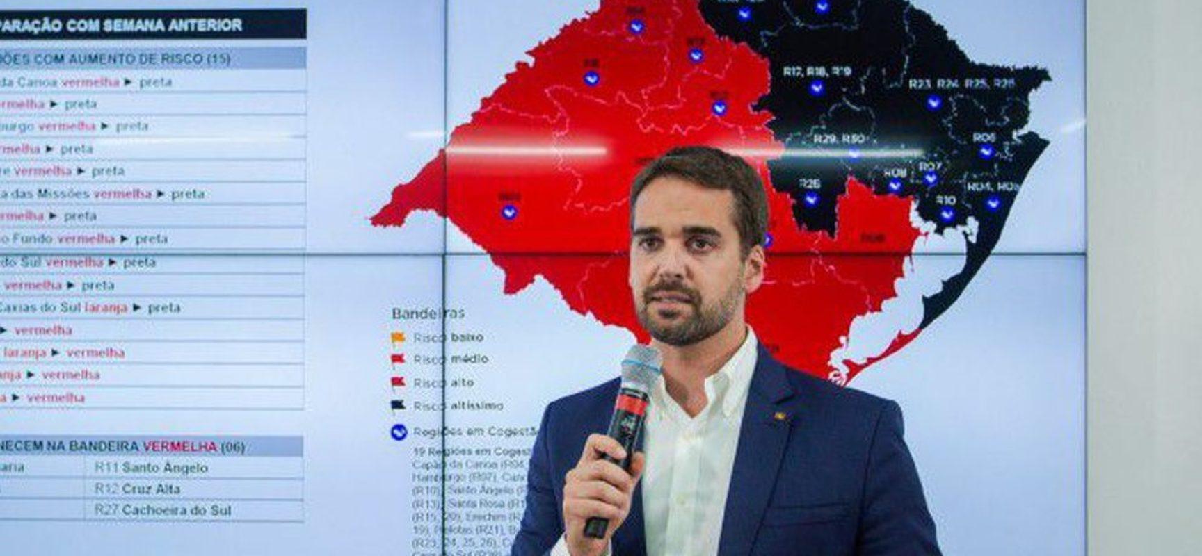 Covid-19: governador determina suspensão geral das atividades no RS