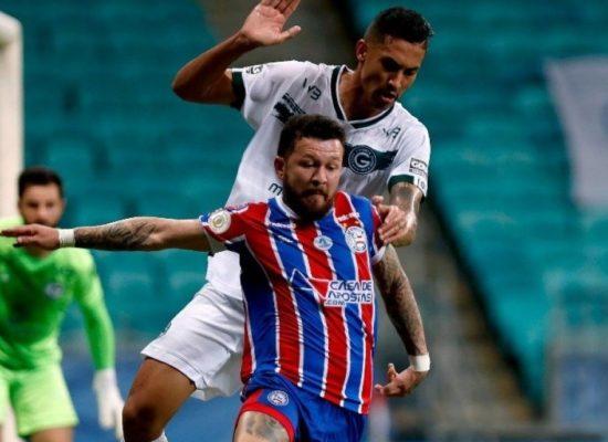 Em jogo de seis gols, Bahia e Goiás empatam em 3 a 3 na Fonte Nova