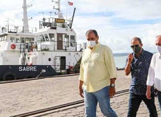 Prefeito Mário Alexandre comemora publicação do edital de licitação para dragagem do Porto de Ilhéus