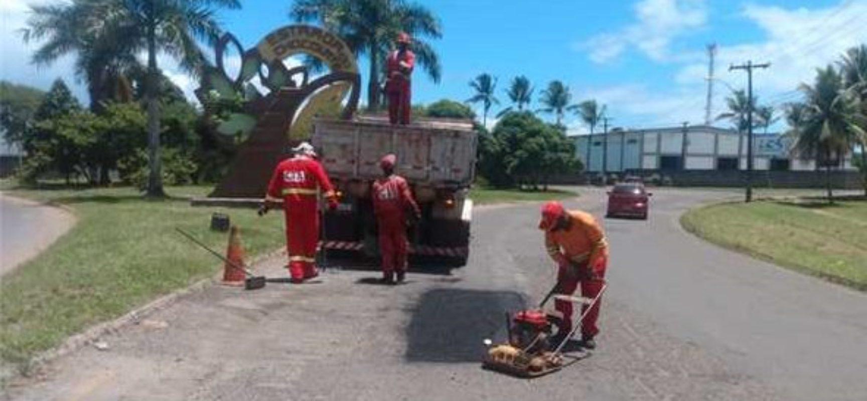 Prefeitura de Ilhéus retoma operação tapa-buracos em 16 pontos da cidade