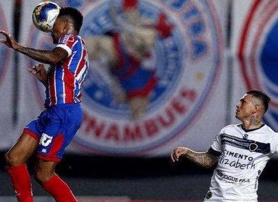 Bahia empata com o Botafogo-PB nos acréscimos pelo Nordestão