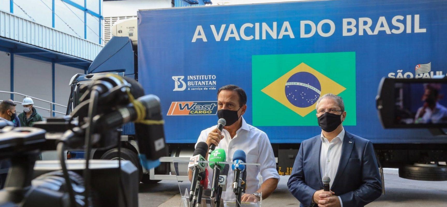 Butantan entrega 5 milhões de doses da CoronaVac ao Ministério da Saúde nesta segunda (29)