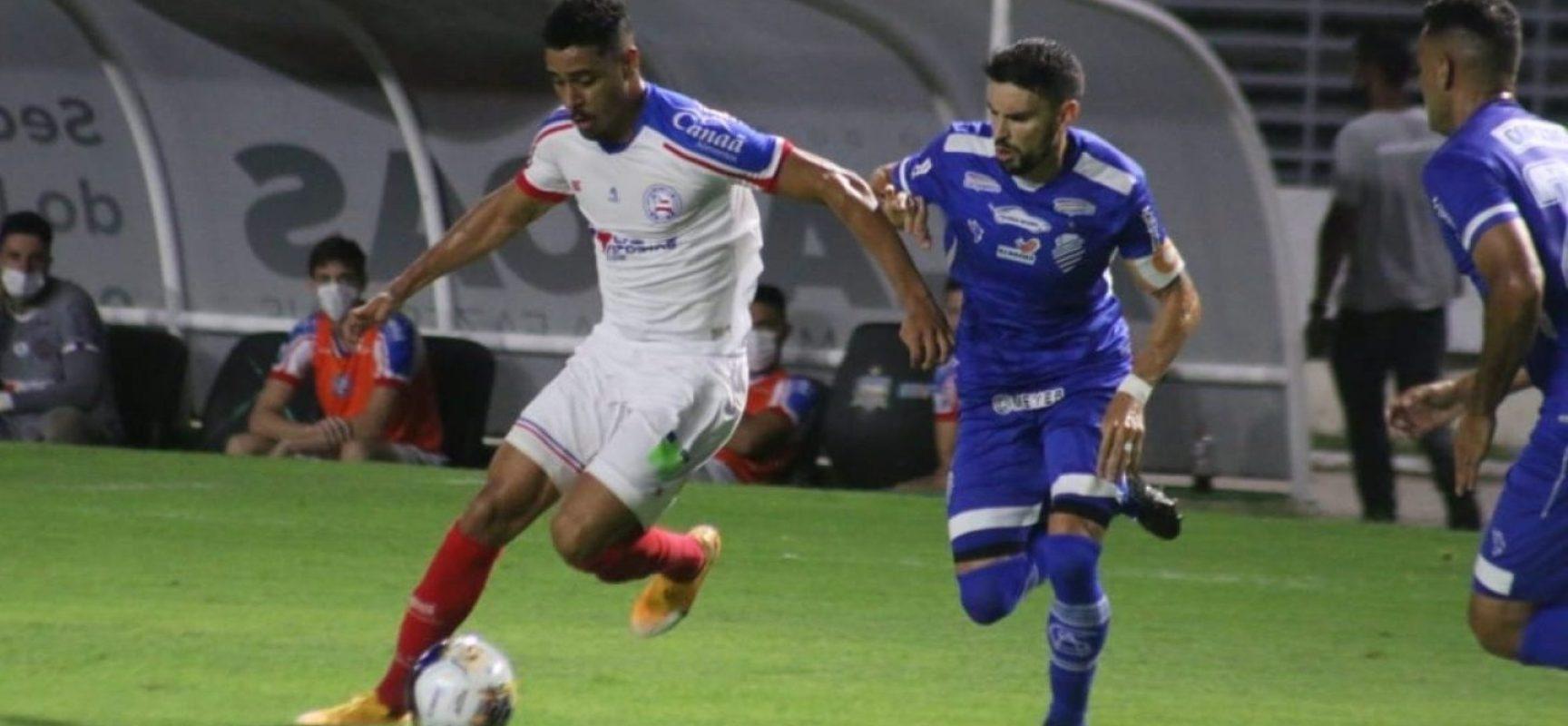 Douglas falha, Bahia desperdiça pênalti e perde por 2 a 0 para o CSA pelo Nordestão