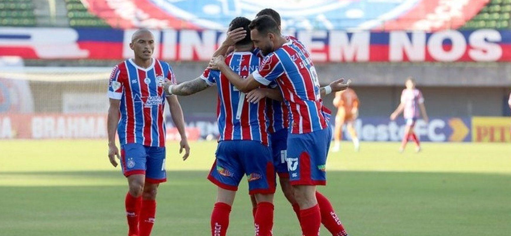 Gilberto marca quatro vezes e Bahia goleia o Altos-PI por 5 a 0