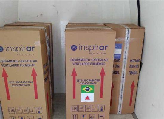 Ilhéus recebe cinco ventiladores pulmonares doados pela Bahia Mineração
