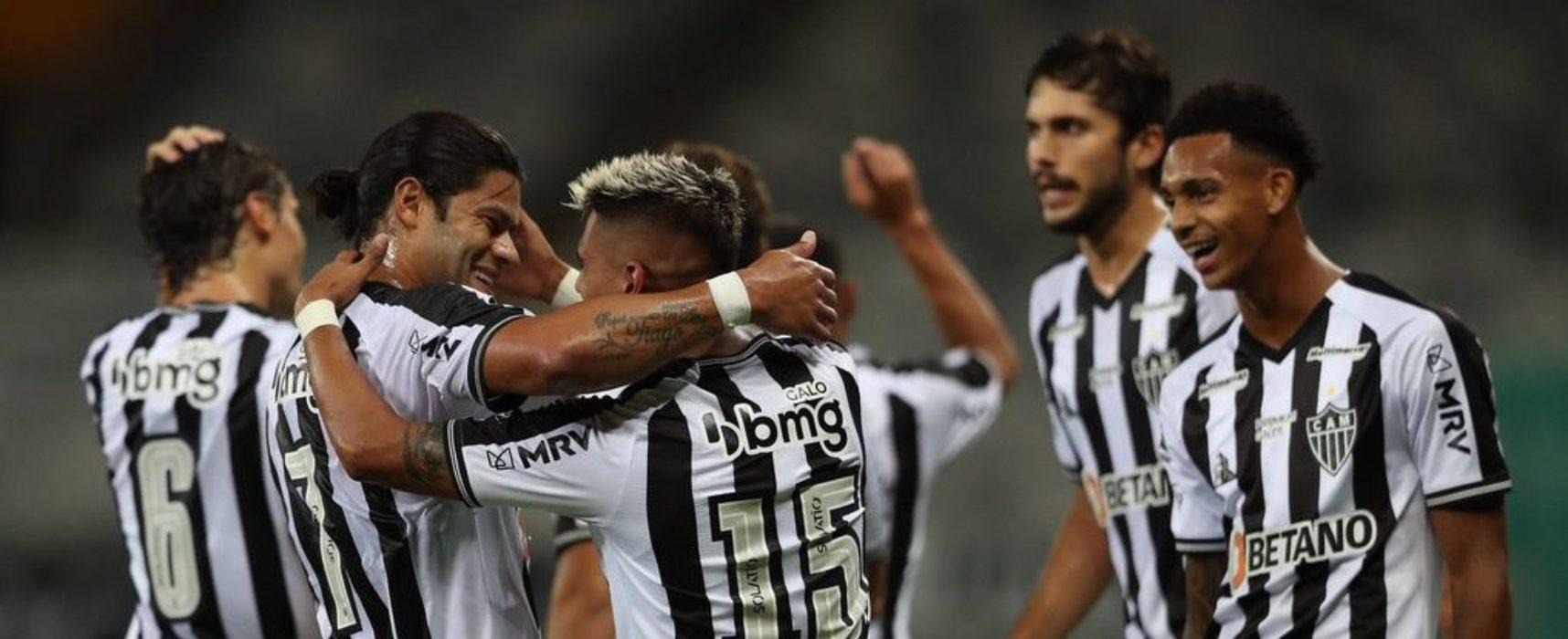 Na estreia de Hulk, Atlético goleia Uberlândia e vira líder do Mineiro