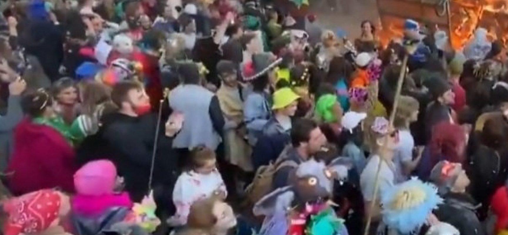 No sul da França, carnaval ilegal reúne cerca de 6,5 mil pessoas sem medidas contra Covid-19