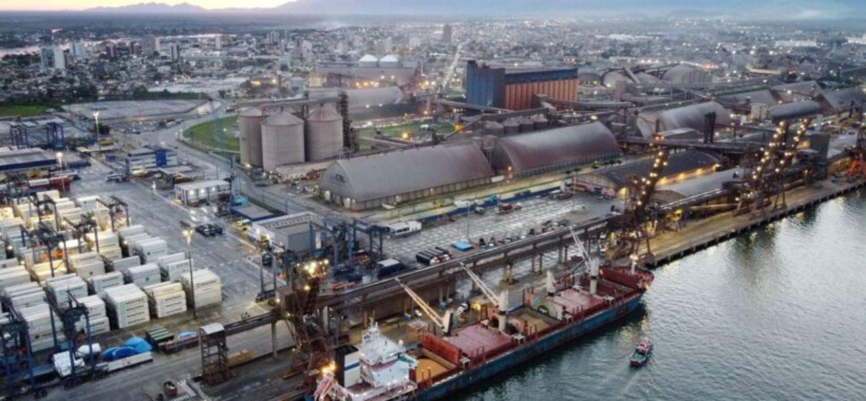 Setor portuário movimentou 1,152 bilhão de toneladas em 2020