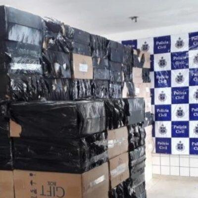 Caminhoneiro é preso com carga de 130 mil carteiras de cigarro falsificadas