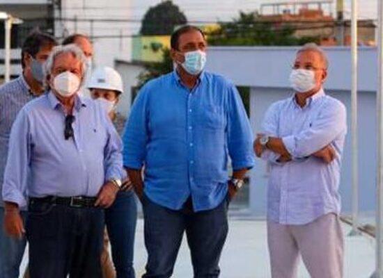Ilhéus: Prefeito e Secretário da Saúde da Bahia vistoriam Materno-Infantil antes da inauguração
