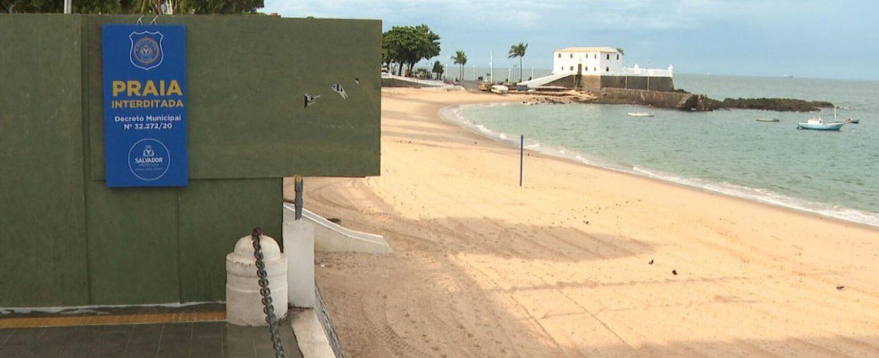 Praias seguem fechadas em Salvador por mais uma semana