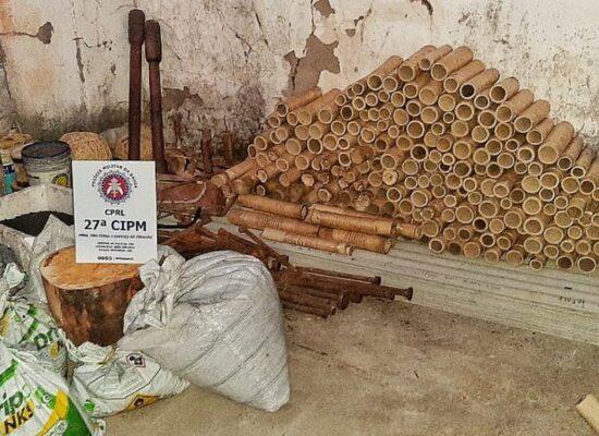 Cruz das Almas: PM desmonta fábrica clandestina de fogos de artifício