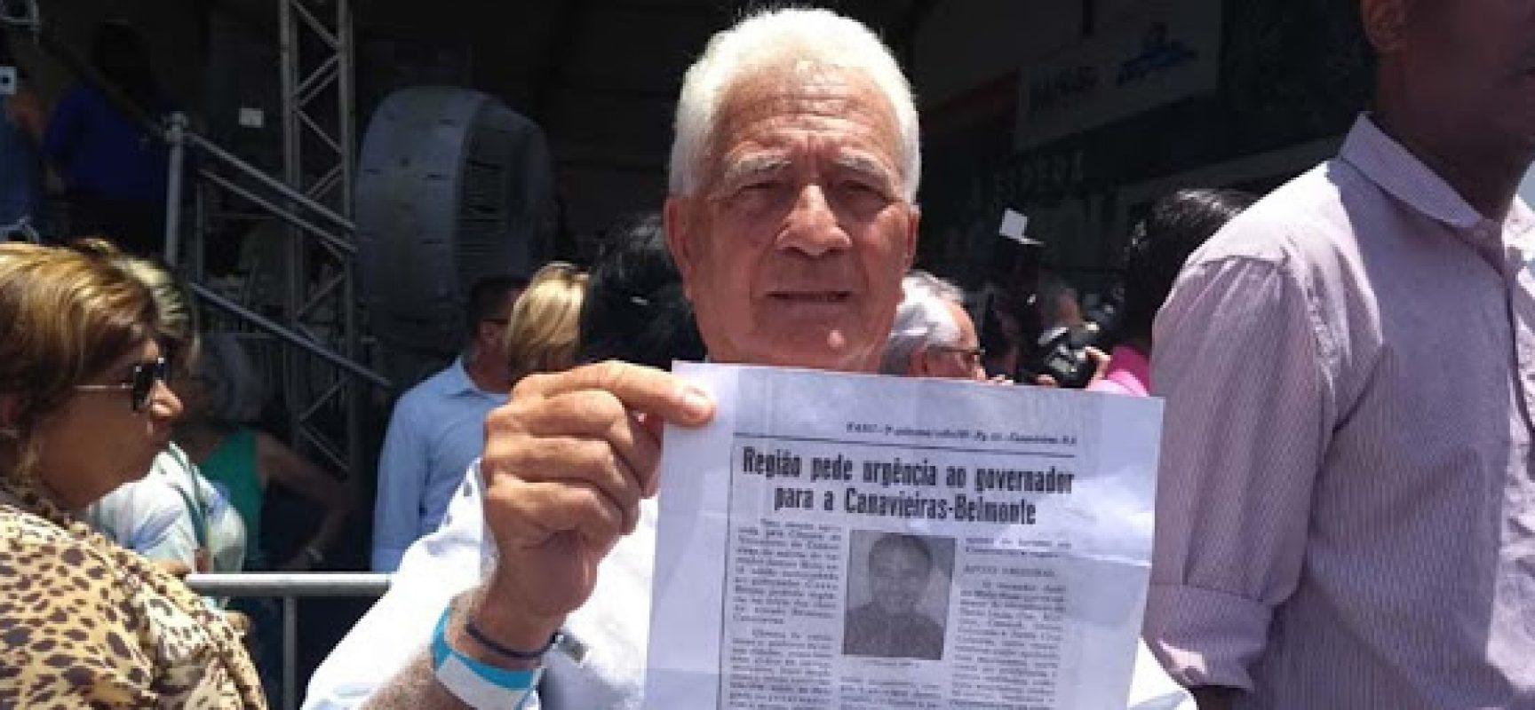 Há 30 anos JUSTINO MELLO lutando pela Estrada BA 001, que liga Canavieiras X Belmonte