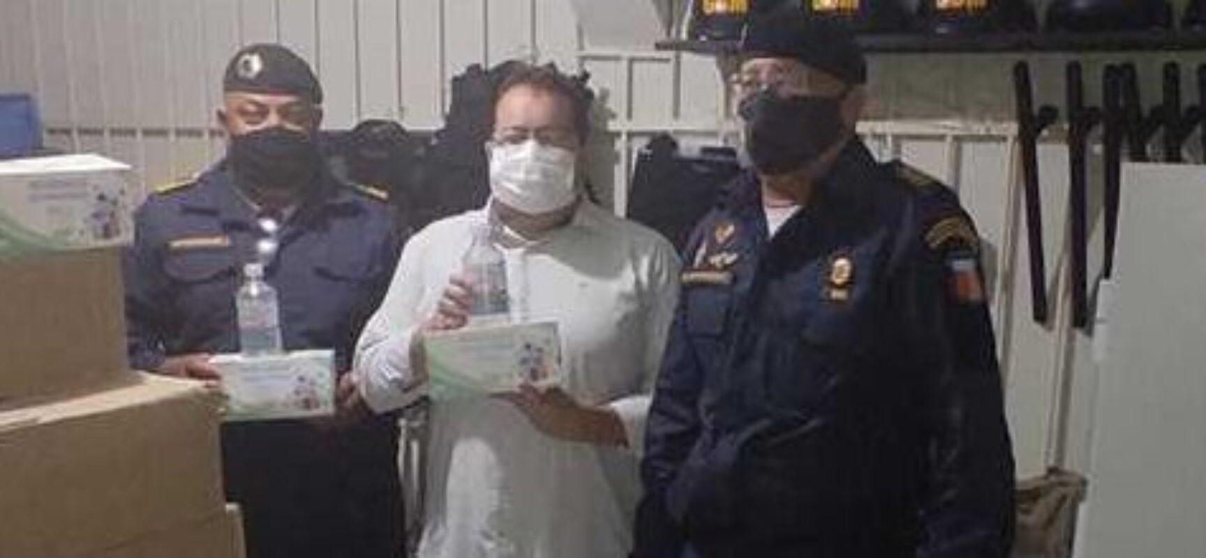 Parceria entre Guarda Civil de Ilhéus e o MPT garante entrega de kits de prevenção contra a Covid-19