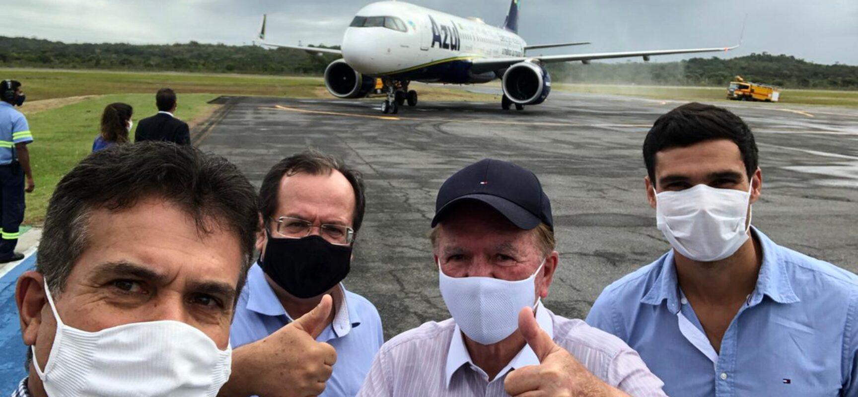 Azul inicia operação de voos comerciais para Ilha de Comandatuba, na Bahia