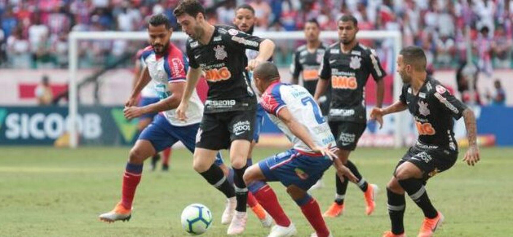 Bahia fica no empate com o Corinthians em Pituaçu pelo Brasileirão