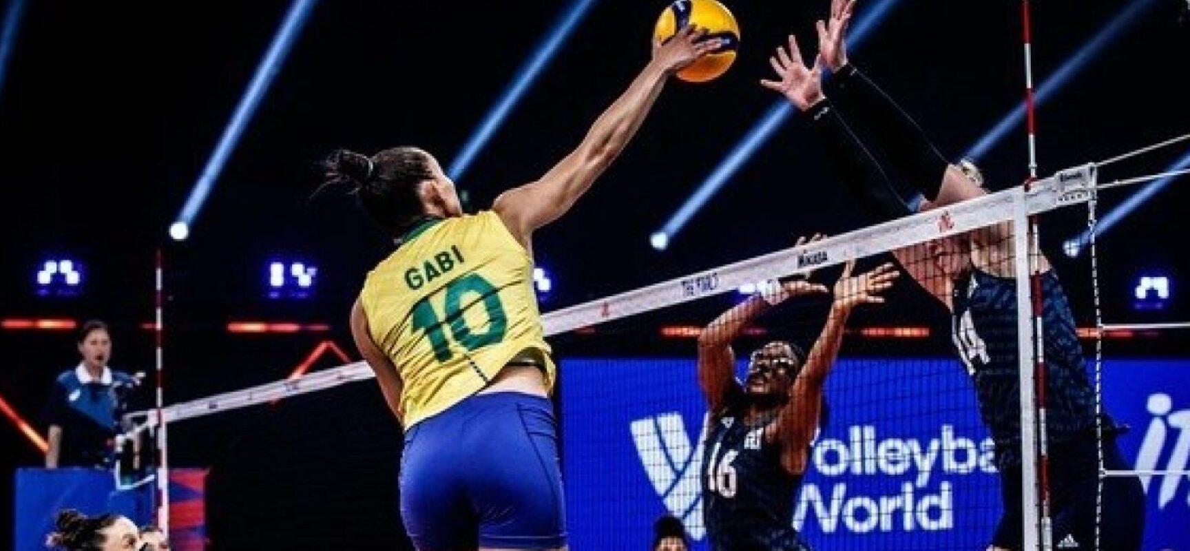 Brasil perde para EUA e fica com prata na Liga das Nações