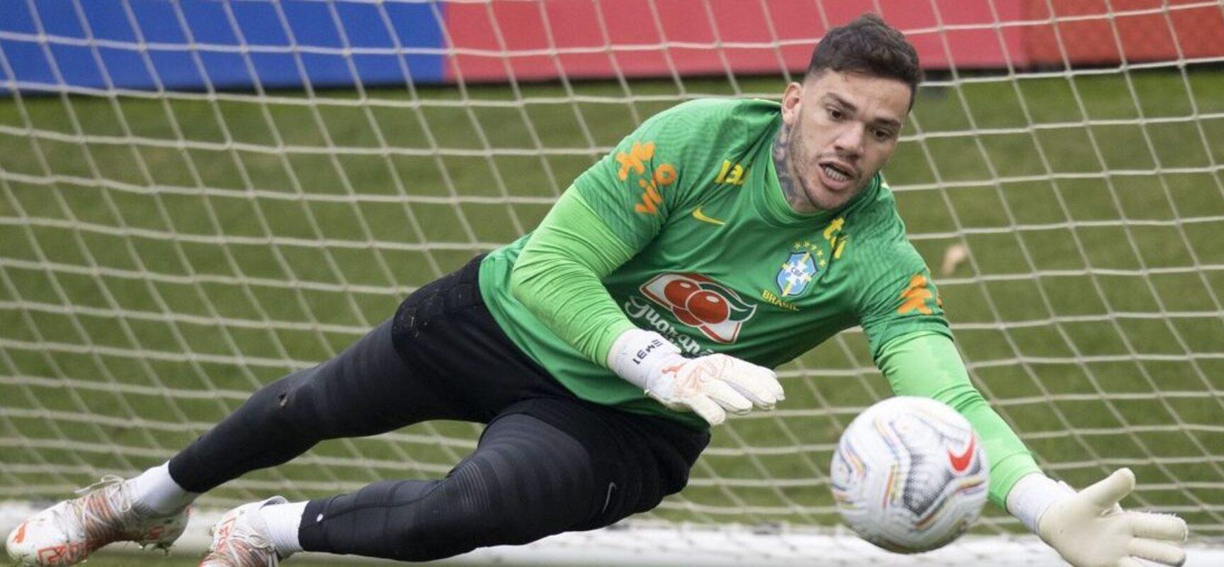 Com Ederson no gol, Brasil encerra preparação para enfrentar Peru