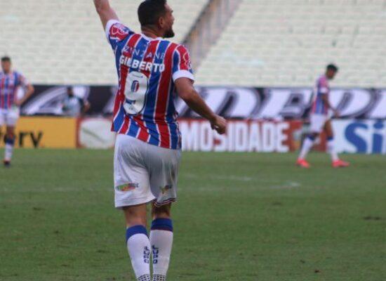 Gilberto brilha e Bahia vence Ceará de virada na Arena Castelão