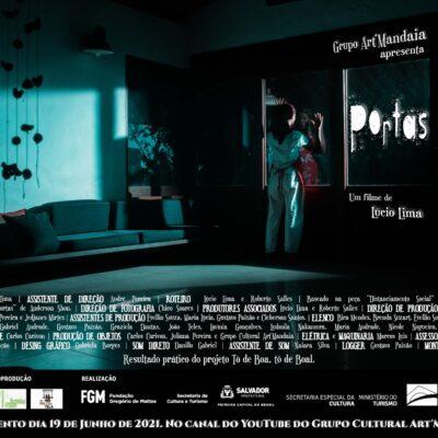 Grupo Cultural Art'Mandaia lança neste sábado o filme PORTAS
