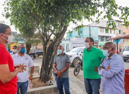 Ilhéus: Prefeito Mário Alexandre realiza vistoria da Praça Santa Rita antes da entrega à população