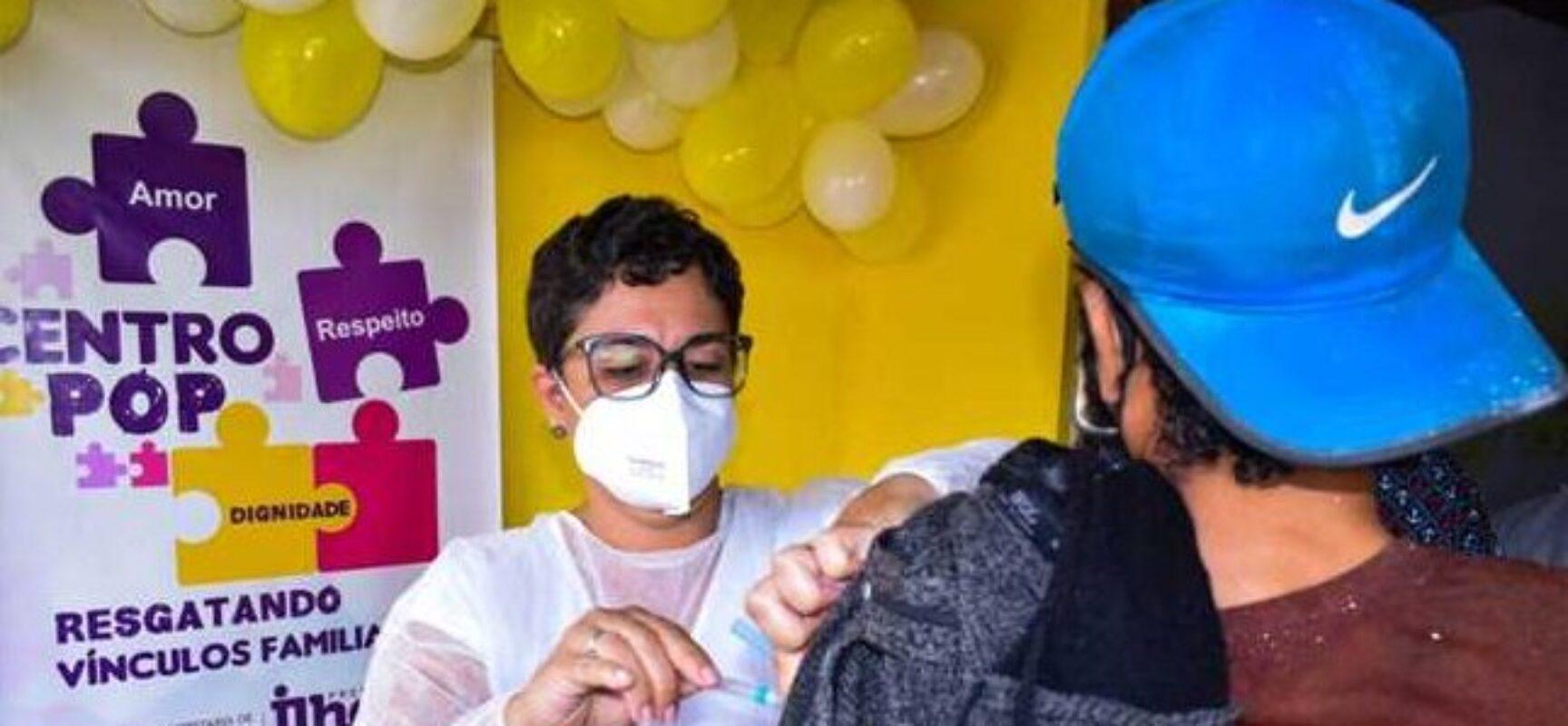 Prefeitura inicia vacinação contra a Covid-19 para população em situação de rua