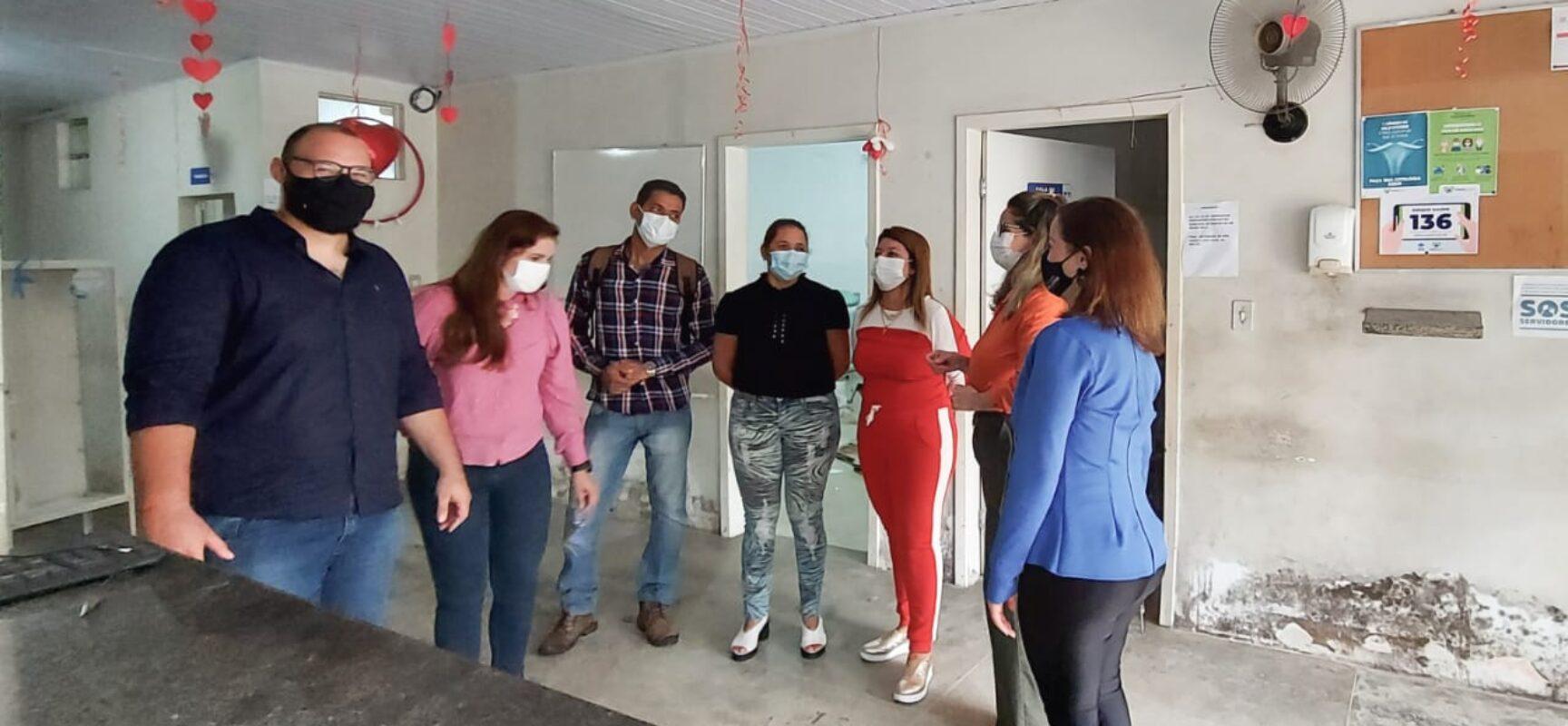 Secretária de Saúde visita as UBS Moise Hage e Amália Lessa cujas obras começam