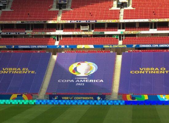 Taxa de incidência de Covid-19 na Copa América é maior que no país inteiro