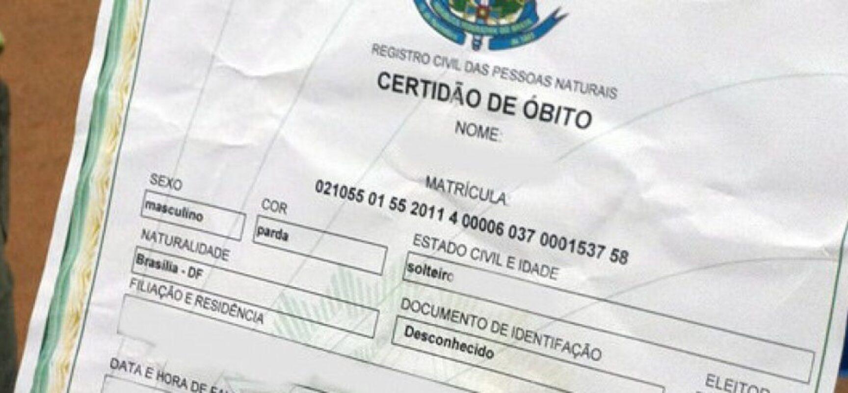 Cartórios de Itabuna registram 1º semestre com mais óbitos e menos nascimentos da história