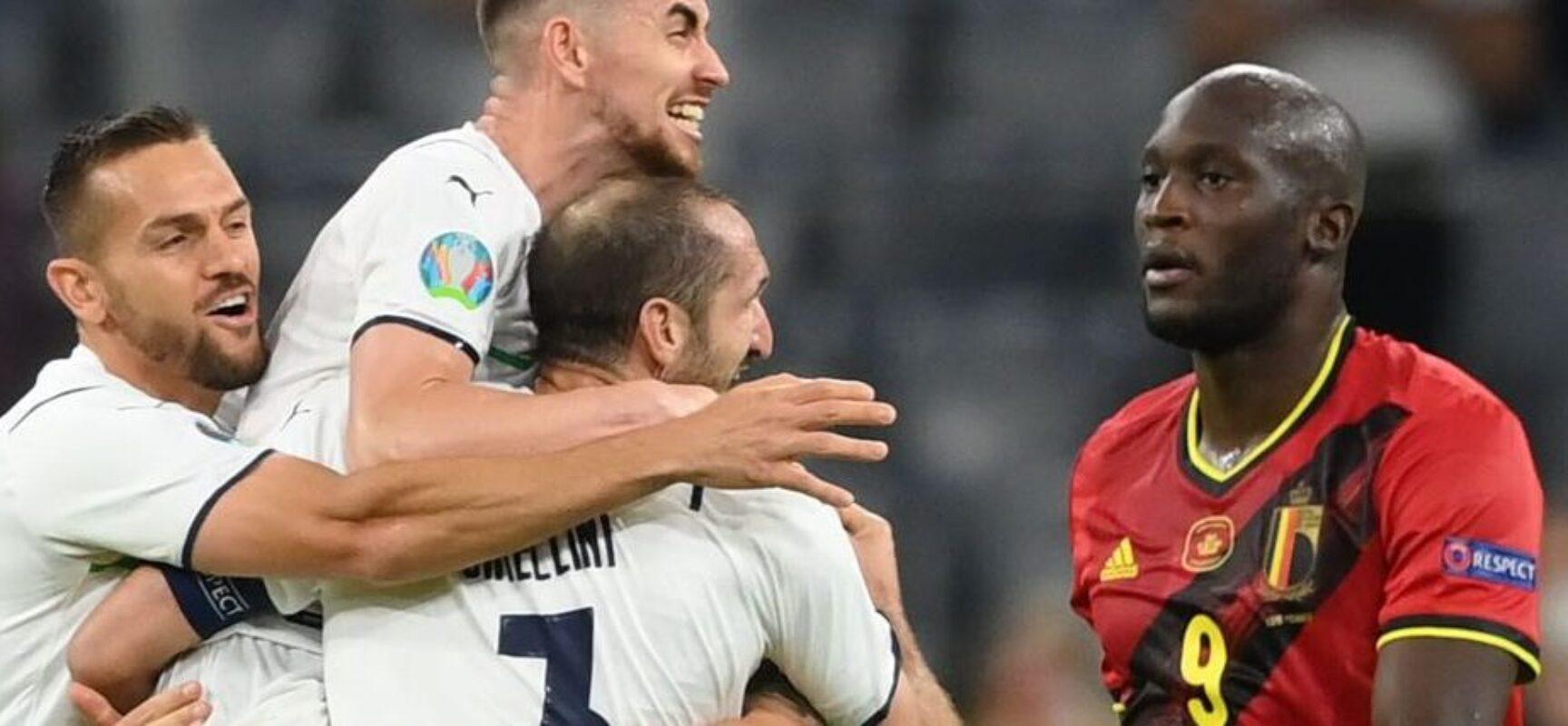 Itália vence Bélgica por 2 a 1 e alcança semifinais da Eurocopa