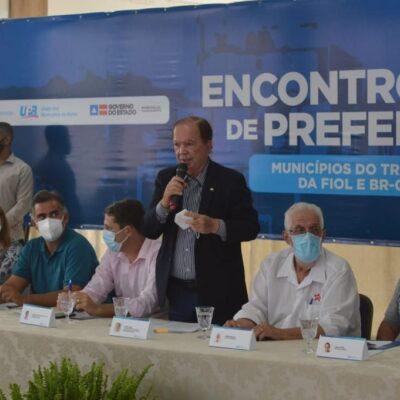 Prefeitos criam consórcio para acompanhar e fiscalizar obras da Fiol e BR-030
