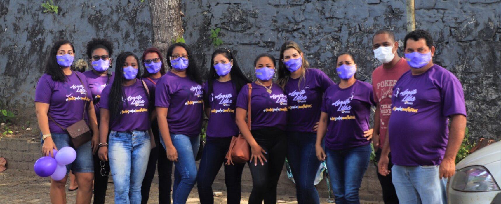 Carreata marcou a abertura do Agosto Lilás em Itacaré