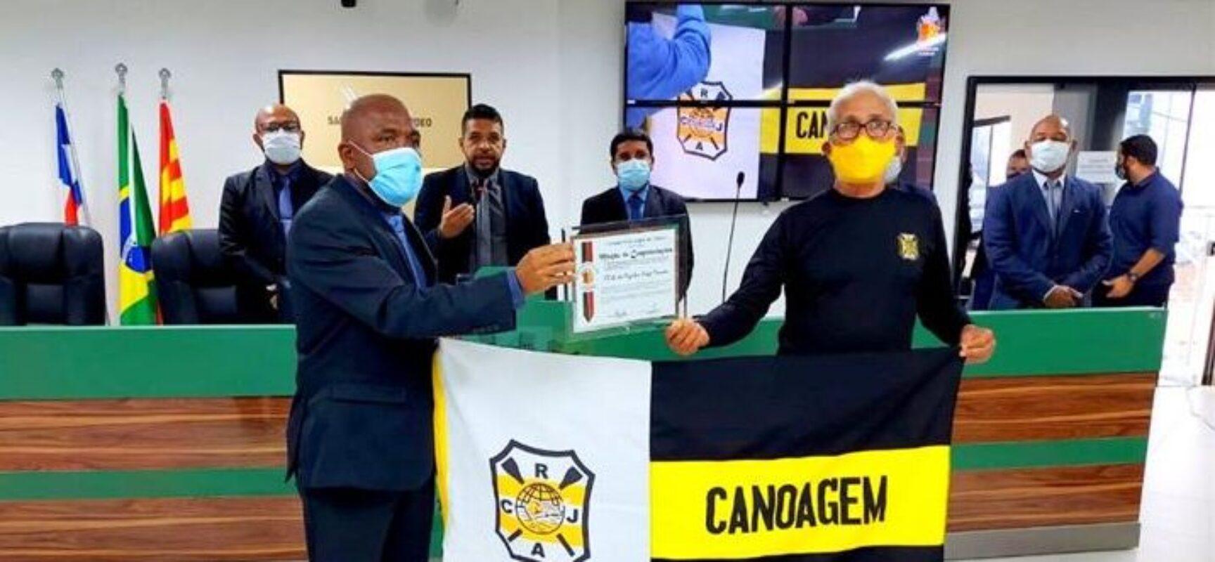 De volta às atividades esportivas, Clube de Regatas Jorge Amado recebe homenagem da Câmara de Ilhéus
