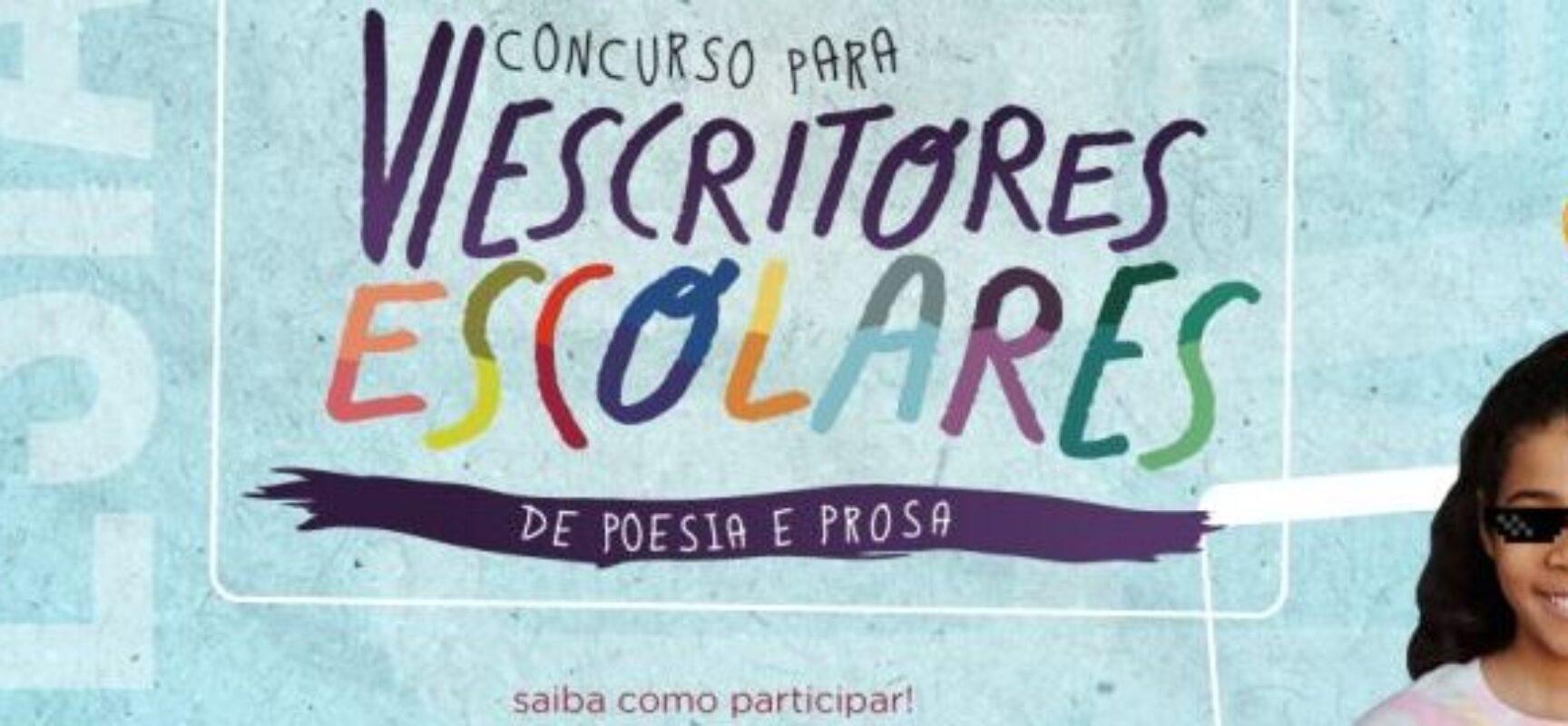Estão abertas as inscrições do VI Concurso para Escritores Escolares de Poesia e Prosa