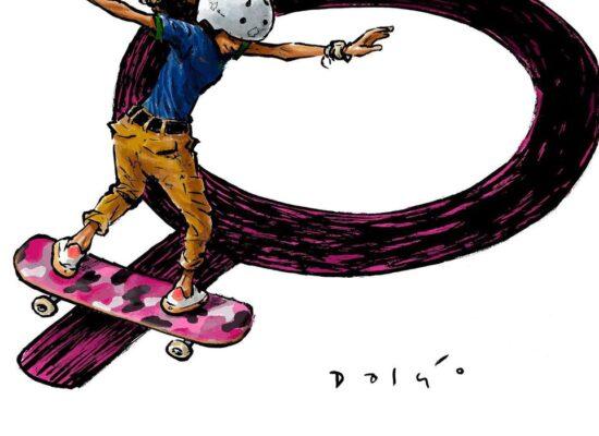 Exposição virtual apresenta atletas olímpicos brasileiros em cartuns