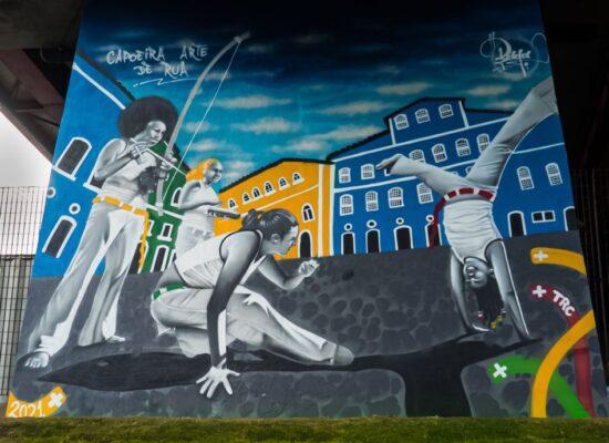 Grafite e Capoeira ocupam espaços urbanos no Metrô de Salvador