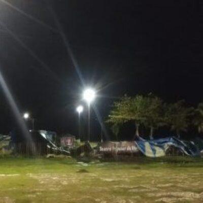 Lona da Tenda TPI desaba; grupo necessita de abrigo urgente para salvar equipamentos