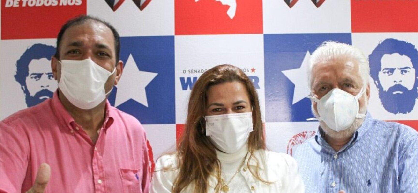 Marão e Soane Galvão são recebidos pelo senador Jaques Wagner em Salvador