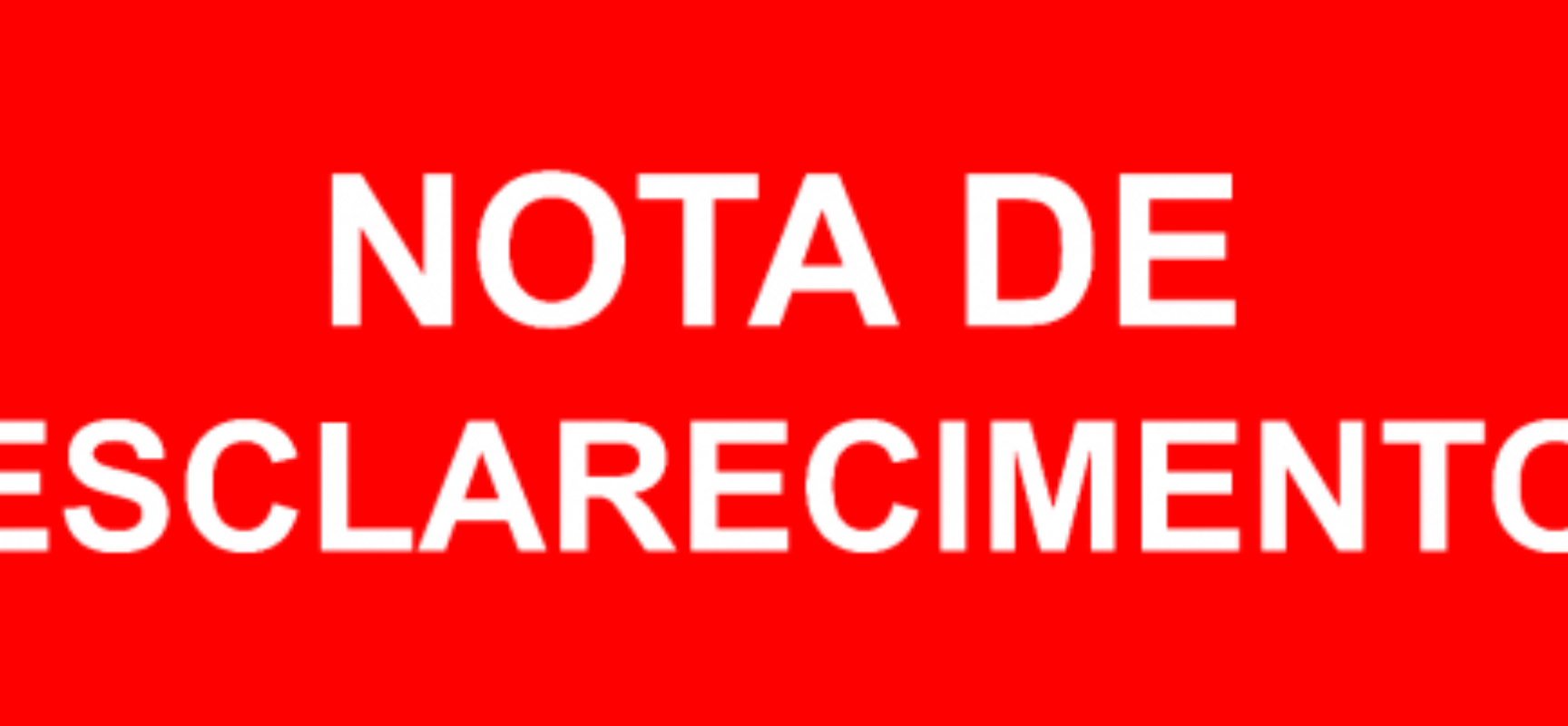 Nota de Esclarecimento sobre o estado de saúde do Vereador Luca Lima